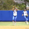 Kelsey Stewart catches during Florida's 5-6 loss to Mississippi State on Sunday, April 8th 2013 at the Katie Seashole Pressly Softball Stadium in Gainesville, Florida.
