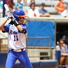 Ensley Gammel at bat during Florida's 5-6 loss to Mississippi State on Sunday, April 8th 2013 at the Katie Seashole Pressly Softball Stadium in Gainesville, Florida.