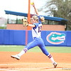 Hannah Rogers pitches during Florida's 5-6 loss to Mississippi State on Sunday, April 8th 2013 at the Katie Seashole Pressly Softball Stadium in Gainesville, Florida.