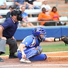 Taylore Fuller catches during Florida's 5-6 loss to Mississippi State on Sunday, April 8th 2013 at the Katie Seashole Pressly Softball Stadium in Gainesville, Florida.