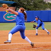 Lauren Haeger mid pitch during the Gators' scrimmage on Tuesday, February 5, 2013 at Katie Seashole Pressly Stadium in Gainesville, Fla.