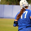 Sophomore Lauren Haeger running to first base during the Gators' scrimmage on Tuesday, February 5, 2013 at Katie Seashole Pressly Stadium in Gainesville, Fla.