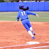 Ensley Gammel running past first base during the Gators' scrimmage on Tuesday, February 5, 2013 at Katie Seashole Pressly Stadium in Gainesville, Fla.