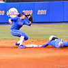 Freshman Kelsey Stewart sliding to second plate during the Gators' scrimmage on Tuesday, February 5, 2013 at Katie Seashole Pressly Stadium in Gainesville, Fla.