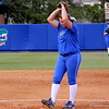 Lauren Haeger setting to pitch the ball during the Gators' scrimmage on Tuesday, February 5, 2013 at Katie Seashole Pressly Stadium in Gainesville, Fla.