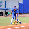 Junior Stephanie Tofft catching a ball while it rolled out of bounds during the Gators' scrimmage on Tuesday, February 5, 2013 at Katie Seashole Pressly Stadium in Gainesville, Fla.