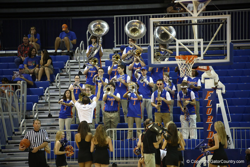 Band during the Florida Gators 75-78 overtime loss to Tennessee on Sunday, Jan. 13, 2012, at the Stephen C. O'Connell Center in Gainesville, Fla. / Gator Country photo by Curtiss Bryant
