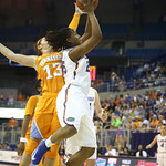 Christin Mercer during the Florida Gators 75-78 overtime loss to Tennessee on Sunday, Jan. 13, 2012, at the Stephen C. O'Connell Center in Gainesville, Fla. / Gator Country photo by Curtiss Bryant
