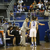 Coach Amanda Butler and Carlie Needles during the Florida Gators 75-78 overtime loss to Tennessee on Sunday, Jan. 13, 2012, at the Stephen C. O'Connell Center in Gainesville, Fla. / Gator Country photo by Curtiss Bryant during the Florida Gators 75-78 overtime loss to Tennessee on Sunday, Jan. 13, 2012, at the Stephen C. O'Connell Center in Gainesville, Fla. / Gator Country photo by Curtiss Bryant
