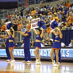 Cheerleaders during the Florida Gators 75-78 overtime loss to Tennessee on Sunday, Jan. 13, 2012, at the Stephen C. O'Connell Center in Gainesville, Fla. / Gator Country photo by Curtiss Bryant