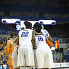 Team huddle during the Florida Gators 75-78 overtime loss to Tennessee on Sunday, Jan. 13, 2012, at the Stephen C. O'Connell Center in Gainesville, Fla. / Gator Country photo by Curtiss Bryant
