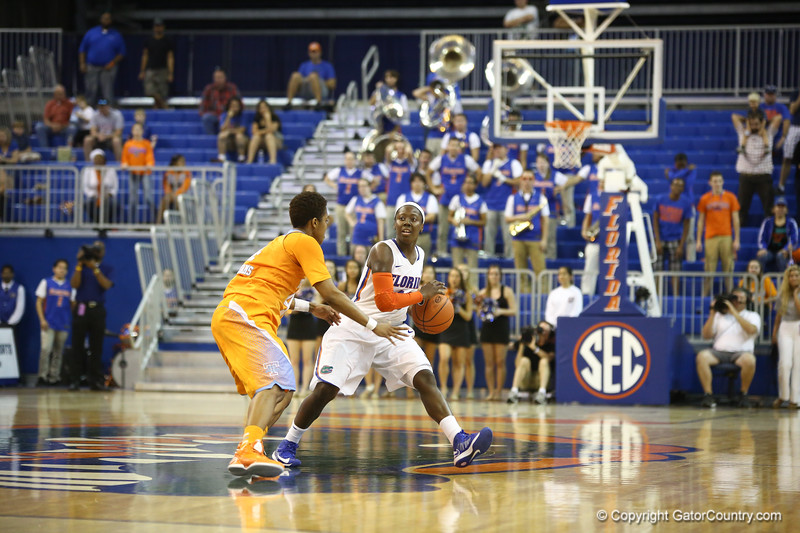 JAterra Bonds during the Florida Gators 75-78 overtime loss to Tennessee on Sunday, Jan. 13, 2012, at the Stephen C. O'Connell Center in Gainesville, Fla. / Gator Country photo by Curtiss Bryant