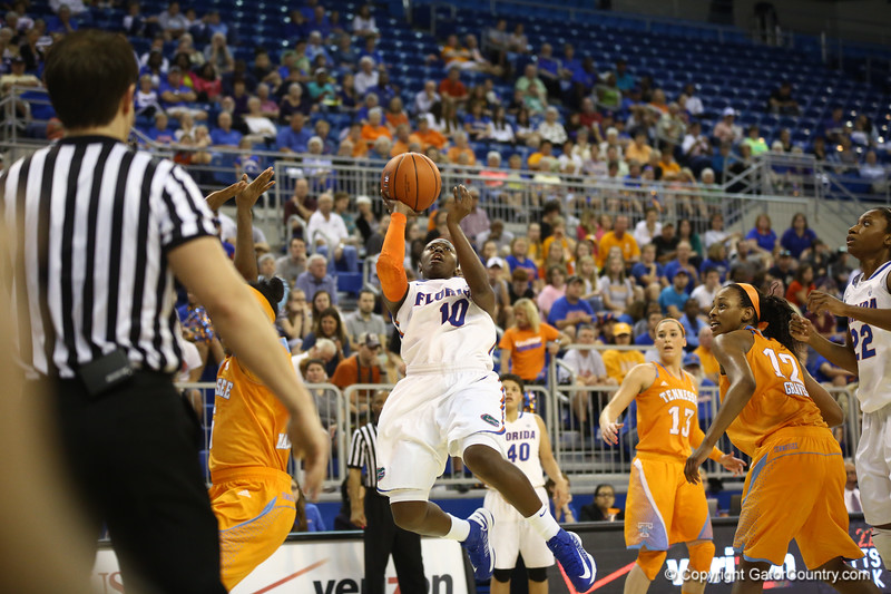 Jaterra Bonds during the Florida Gators 75-78 overtime loss to Tennessee on Sunday, Jan. 13, 2012, at the Stephen C. O'Connell Center in Gainesville, Fla. / Gator Country photo by Curtiss Bryant during the Florida Gators 75-78 overtime loss to Tennessee on Sunday, Jan. 13, 2012, at the Stephen C. O'Connell Center in Gainesville, Fla. / Gator Country photo by Curtiss Bryant