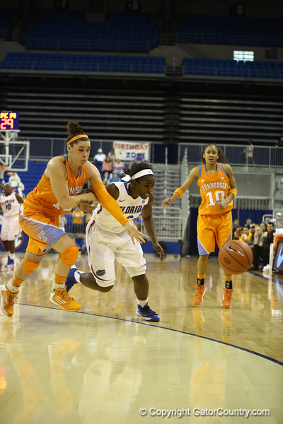 January Miller during the Florida Gators 75-78 overtime loss to Tennessee on Sunday, Jan. 13, 2012, at the Stephen C. O'Connell Center in Gainesville, Fla. / Gator Country photo by Curtiss Bryant during the Florida Gators 75-78 overtime loss to Tennessee on Sunday, Jan. 13, 2012, at the Stephen C. O'Connell Center in Gainesville, Fla. / Gator Country photo by Curtiss Bryant