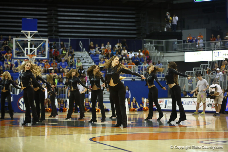 Dance team during the Florida Gators 75-78 overtime loss to Tennessee on Sunday, Jan. 13, 2012, at the Stephen C. O'Connell Center in Gainesville, Fla. / Gator Country photo by Curtiss Bryant