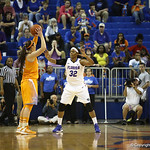 Jennifer George during the Florida Gators 75-78 overtime loss to Tennessee on Sunday, Jan. 13, 2012, at the Stephen C. O'Connell Center in Gainesville, Fla. / Gator Country photo by Curtiss Bryant