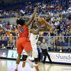 January Miller during Florida's 57-62 loss to Georgia on February 17, 2013 at the Stephen C O'Connell Center in Gainesville, Florida. Pictures taken by Curtiss Bryant for Gatorcountry.com