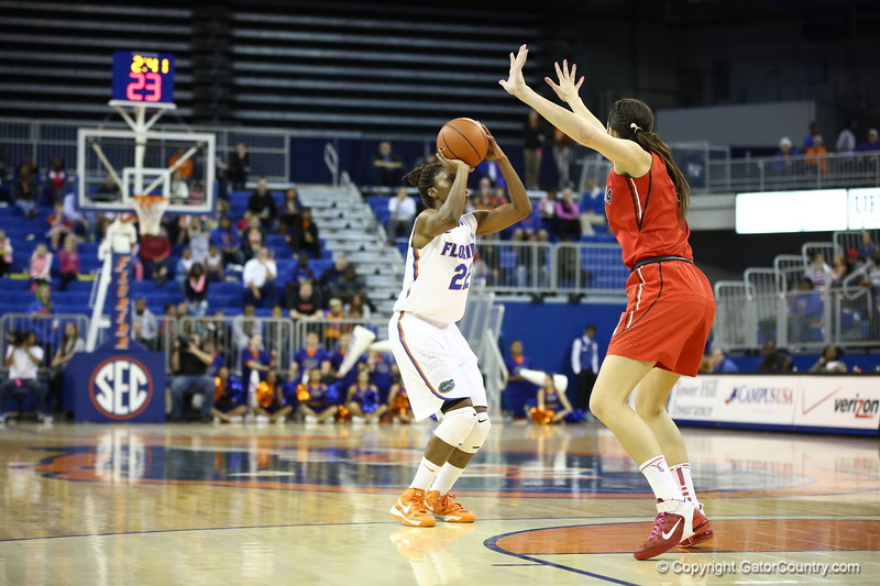 KAyla Lewis during Florida's 57-62 loss to Georgia on February 17, 2013 at the Stephen C O'Connell Center in Gainesville, Florida. Pictures taken by Curtiss Bryant for Gatorcountry.com