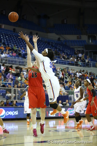 Jennifer George during Florida's 57-62 loss to Georgia on February 17, 2013 at the Stephen C O'Connell Center in Gainesville, Florida. Pictures taken by Curtiss Bryant for Gatorcountry.com