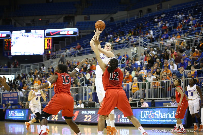 Vicky McIntyre during Florida's 57-62 loss to Georgia on February 17, 2013 at the Stephen C O'Connell Center in Gainesville, Florida. Pictures taken by Curtiss Bryant for Gatorcountry.com