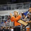 Coach Amanda Butler during Florida's 69-58 win over Arkansas on February 28, 2013 at the Stephen C O'Connell Center in Gainesville, Florida.