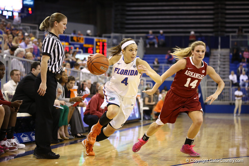 Carlie Needles during Florida's 69-58 win over Arkansas on February 28, 2013 at the Stephen C O'Connell Center in Gainesville, Florida.