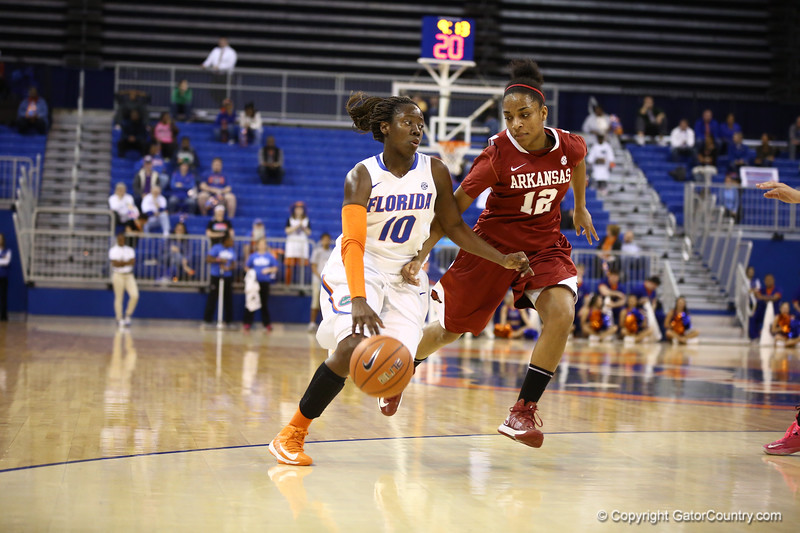 Jaterra Bonds during Florida's 69-58 win over Arkansas on February 28, 2013 at the Stephen C O'Connell Center in Gainesville, Florida.
