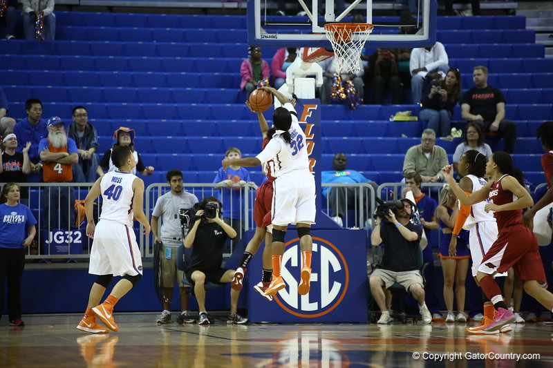 JEnnier George during Florida's 69-58 win over Arkansas on February 28, 2013 at the Stephen C O'Connell Center in Gainesville, Florida.