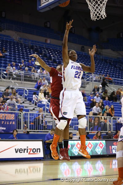 KAyla Lewis during Florida's 69-58 win over Arkansas on February 28, 2013 at the Stephen C O'Connell Center in Gainesville, Florida.