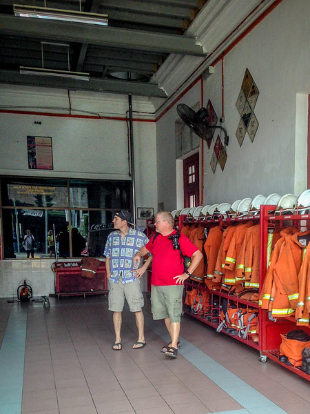Checking out the Fire Station