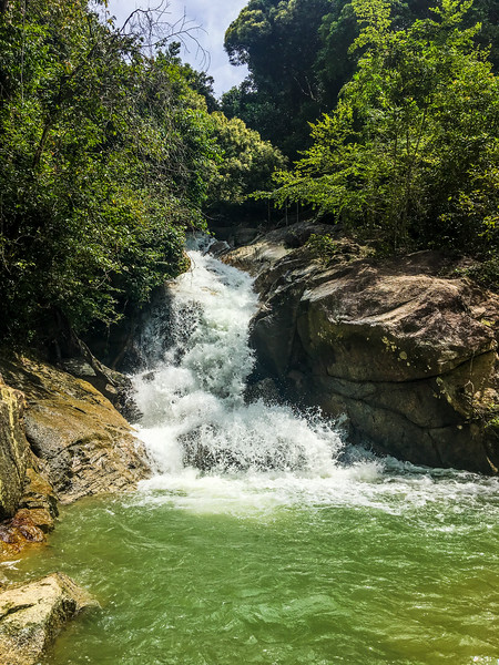 Titi Kerawang water fall on the back side of Penang Island