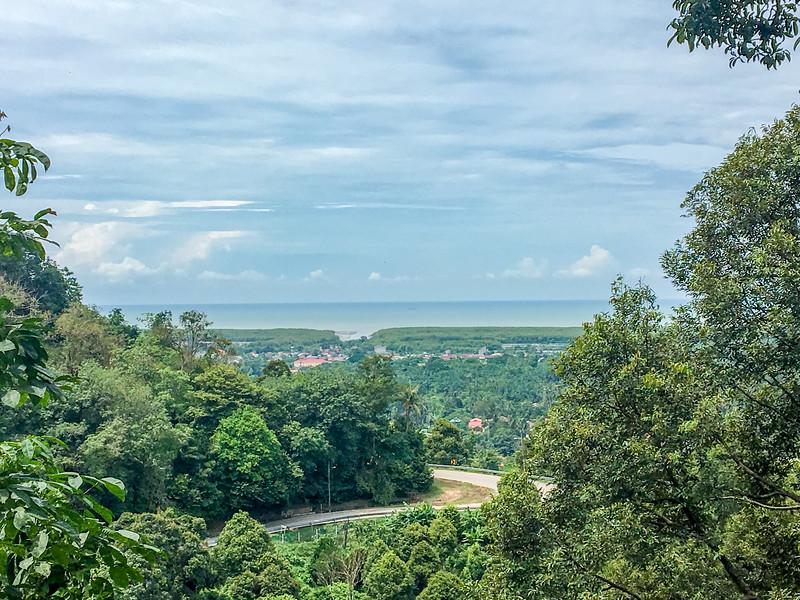 Overlooking the back side of Penang Island - Andaman Sea