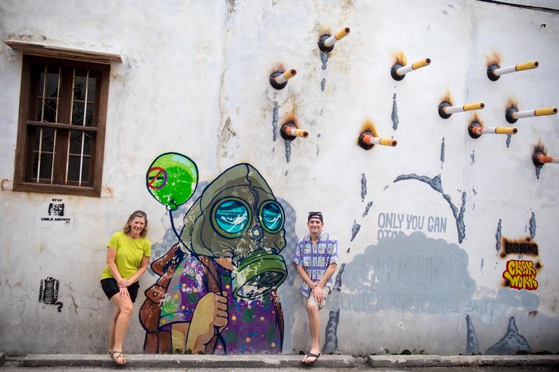 Local Street Art in Georgetown, Penang