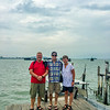 Ed, Gavin and Sally at the Clan Jetties
