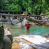 Gavin enjoying the Titi Kerawang waterfalls