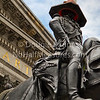 'Art' - the Duke and his omnipresent 'hat' outside Glasgow's gallery of modern art.