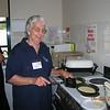 Margaret makes the pancakes