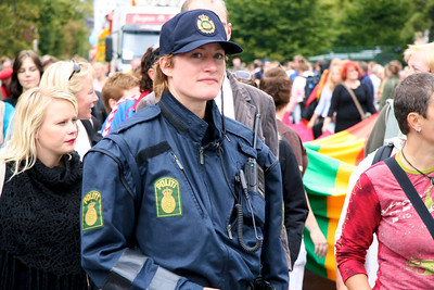 The most beautiful police officer in Copenhagen