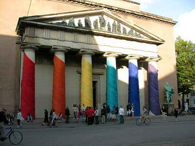 Copenhagen Cathedral, Vor Frue Kirke, dressed up for Outgames