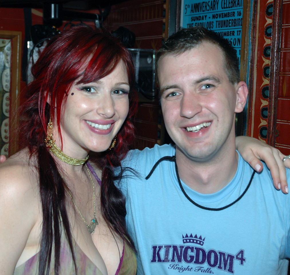 Tiffany with Gay Days staff mmember (and photographer) Brian Westbrook