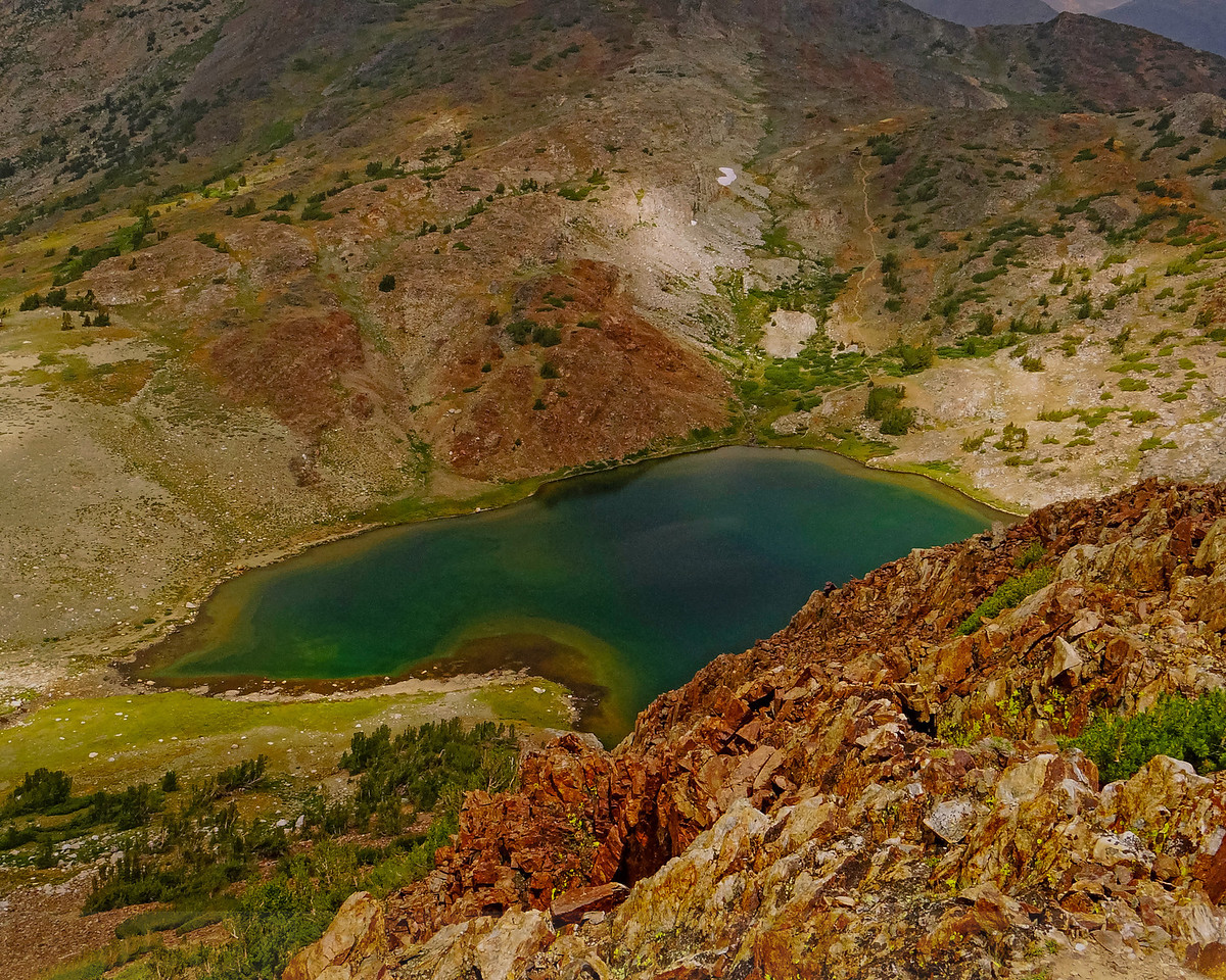 Upper Gaylor Lake from the summit of Gaylor Peak