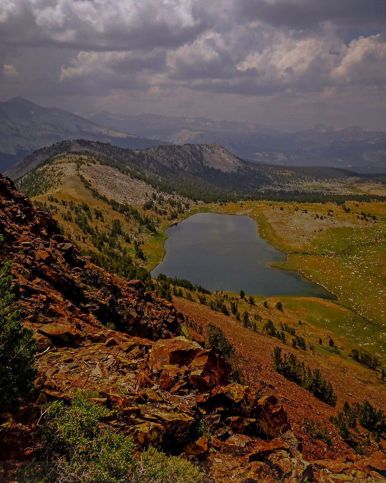 Middle Gaylor Lake from the summit of Gaylor Peak