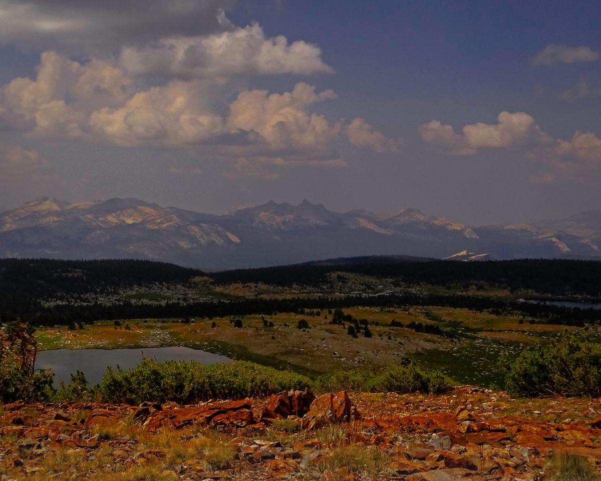 Middle Gaylor Lake from the shoulder of Gaylor Peak