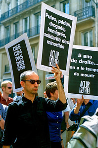 Act Up Paris Demonstration at Gay Pride parade, PS-39387