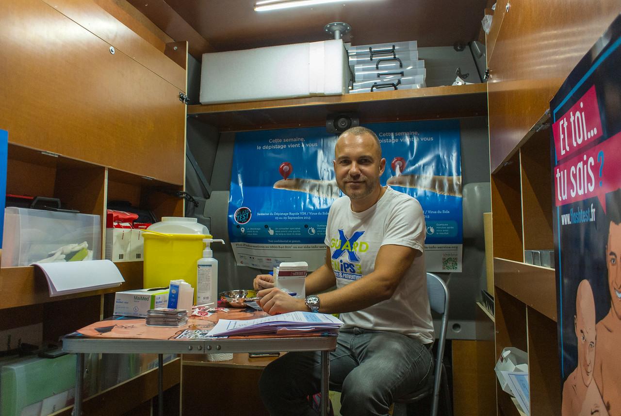 Paris, France, AIDS Flash Test, Prevention Program in the Marais Area, AIDES NGO Militants