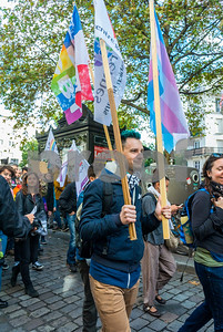 Paris, France, French LGBT Groups Marching in 20th Annual Transexual Demonstration, Existrans, 15 Oct 2016,