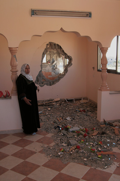 woman at her home in Zaytoun Gaza