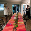 Real grapevines and rare Napa Vally Wine Auction tablecloths