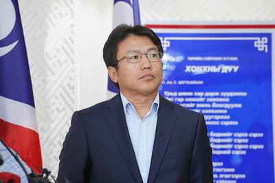 2021 оны наймдугаар сарын 12. Монгол Улсын Их Хурлын сонгуулийн 18, 28 дугаар тойрогт явагдах УИХ-ын гишүүний нөхөн сонгуульд Ардчилсан нам хэрхэн оролцох асуудлаар мэдээлэл хийлээ. ГЭРЭЛ ЗУРГИЙГ И.НОМИН/MPA