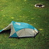 Here's the frog style Mt Hardwear Muir Trail tent which was used heavily after I left the Tipi in 2001.